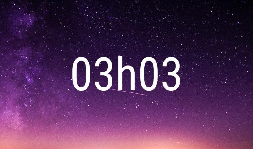 Heure miroir 03h03