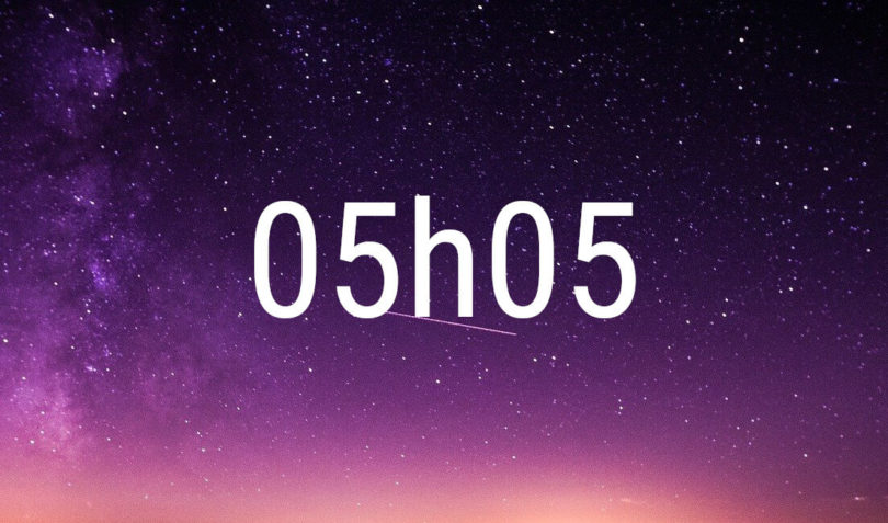 heure miroir 05h05